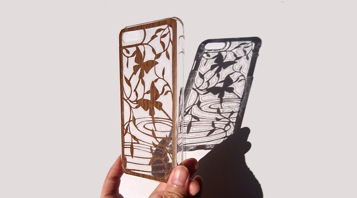 美しい平面の彫刻。切り絵作家とつくるアートな切り絵のiPhoneケース。ミニランプも選べます。