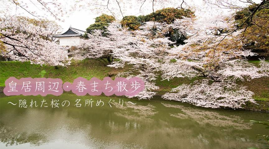 【春まち散歩・皇居編】隠れた桜の名所をめぐる!~可憐に咲く街角の桜をめでる街歩き~