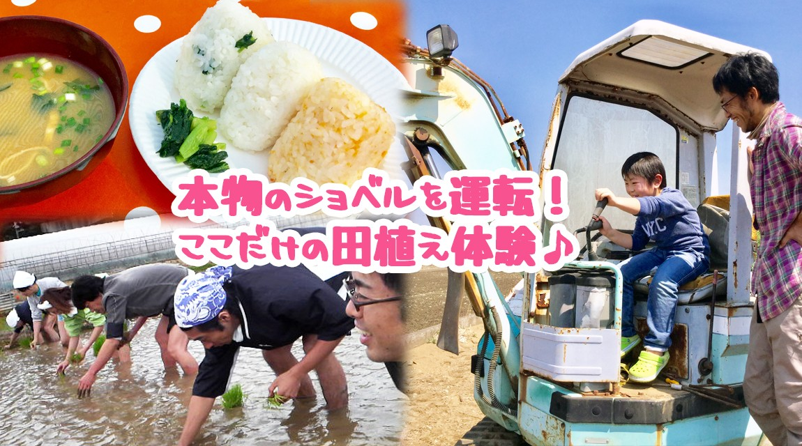 【千葉・柏】本物のトラクターに試乗できる!5月限定田植え体験〜地元米で農園おにぎり〜