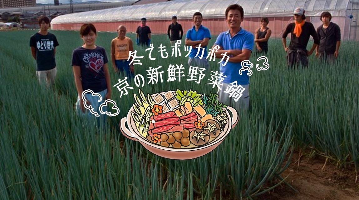 【京都・久御山町】冬の農業体験でも寒さ知らず‼ポッカポカ『京の新鮮野菜鍋』