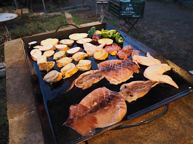 秋野菜&海鮮のBBQスタート