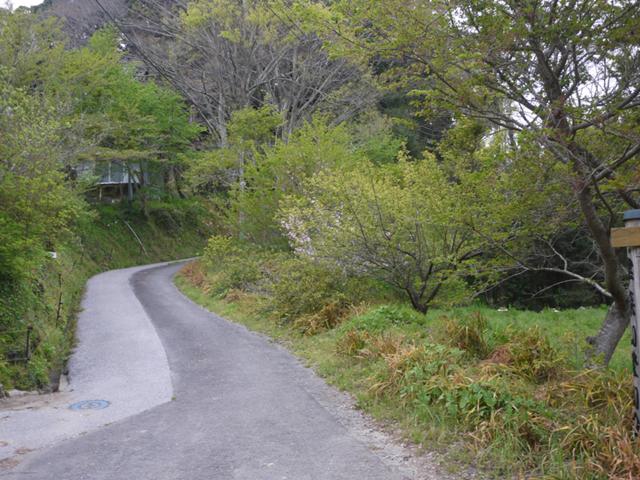 津守山登山口の看板の前に集合