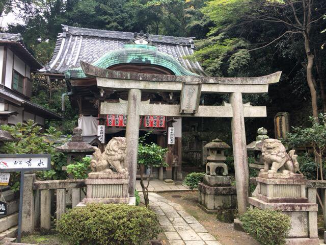 円山公園にある吉水弁財天へ