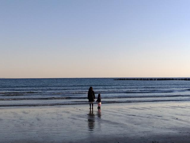 坂ノ下海岸で海散歩