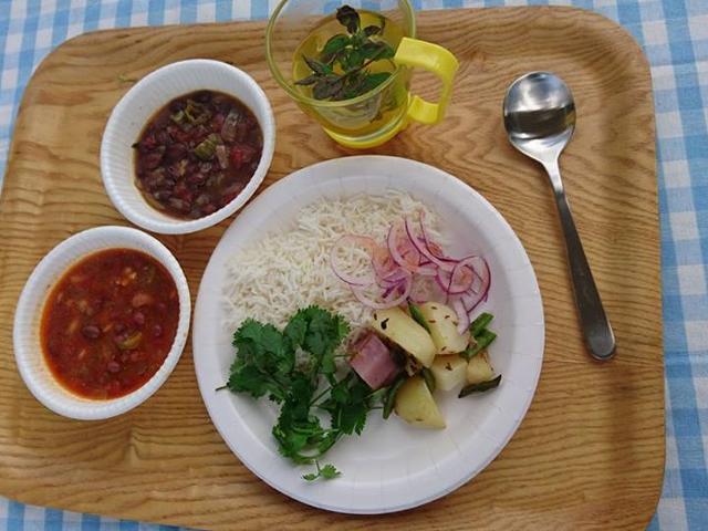ランチ(野菜カレー)