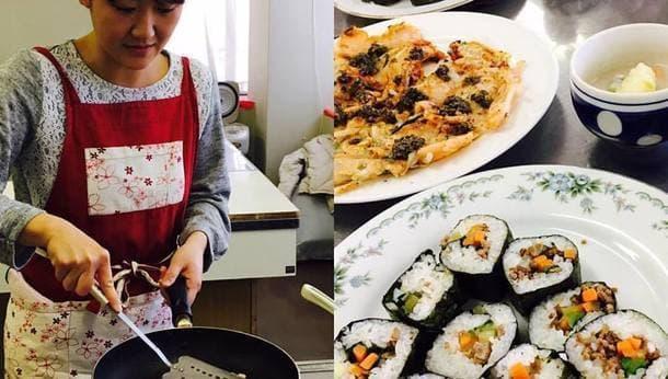 手づくりキムチは持ち帰り。「韓国料理を作って食べて古民家満喫」