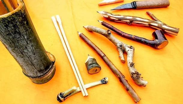 【マイ箸・マイ鉛筆作り】自分でとってきた竹や枝を加工してオリジナルの箸・鉛筆づくりを体験する旅!@神奈川県相模原市