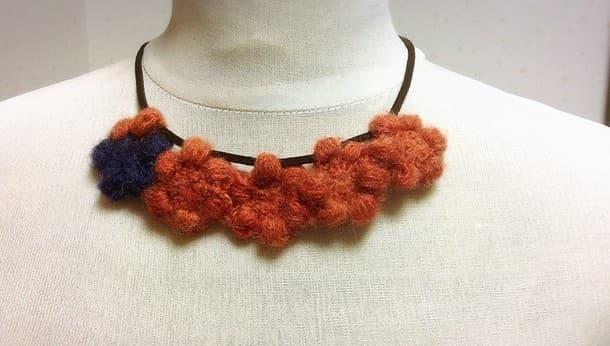 自由が丘で編み物!  大人かわいいお花のチョーカーを編もう!