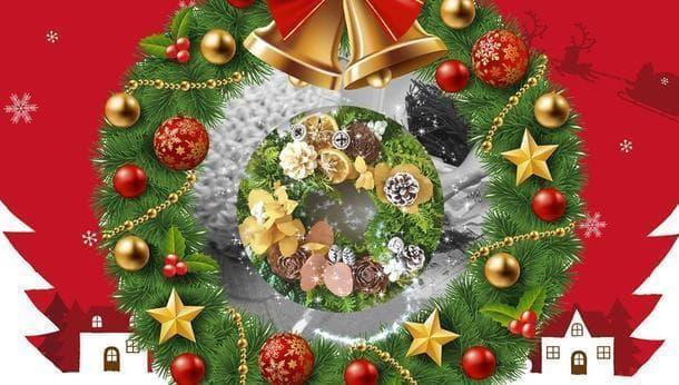 【ナチュラル素材で冬を彩る!】初心者歓迎♪クリスマスリースづくり