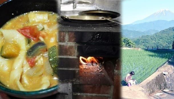 """山の古民家宿で薪暮らしを体験。手作り釜戸で作る""""ラタトゥイユほうとう"""""""
