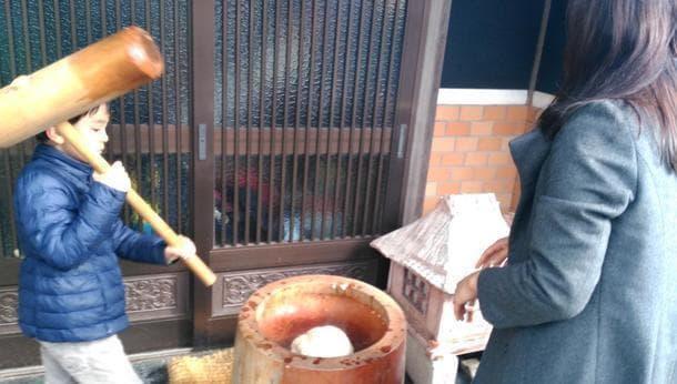 【兵庫県神崎郡市川町】有機の棚田米のもちつき体験~つきたてのおもちを食べて、みんな家族のように古民家でゆっくり~